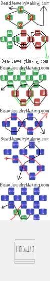 Flat Right Angle Weave Instruction for christmas box ornaments