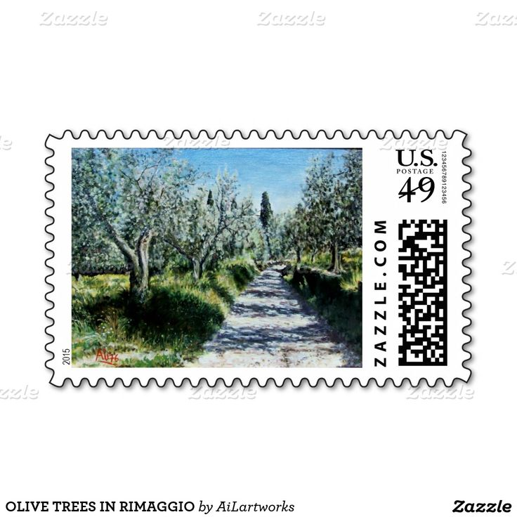 OLIVE TREES IN RIMAGGIO POSTAGE STAMPS