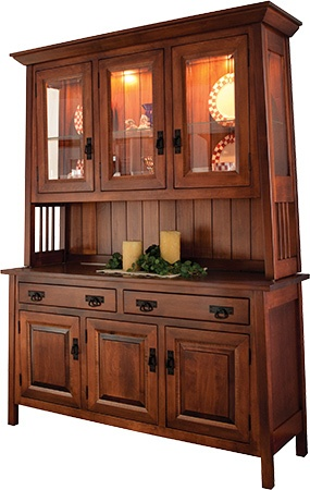 Garcia 3 Door Mission Style Hutch Dining Room