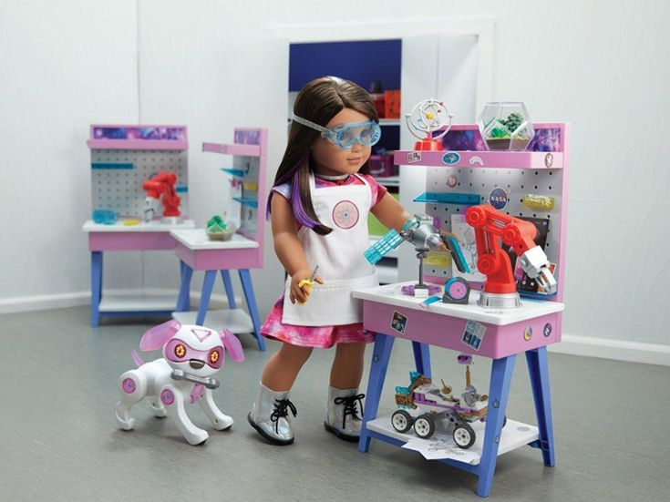 """The 2018 """"Girl of the Year,"""" an aspiring astronaut named Luciana Vega, will have her own line of products including this Maker Station."""