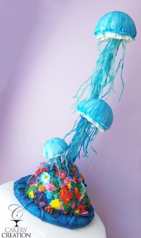 3D jellyfish cake - Cake by Cakery Creation Liz Huber