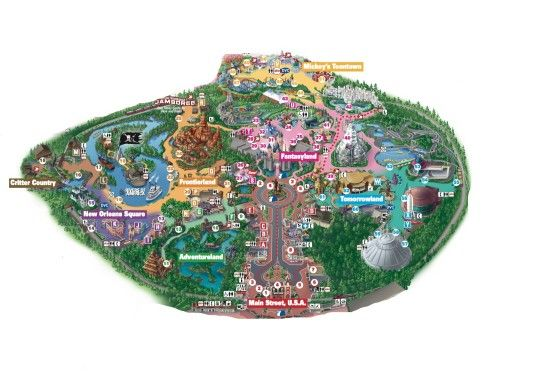 Great Map Of Disneyland Park. Pin now for your next trip!
