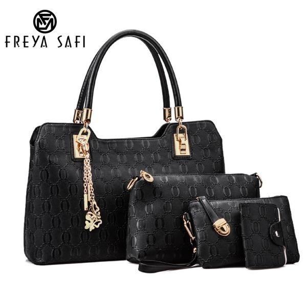 FREYA SAFI Designer Handbags - 4 Pieces Set