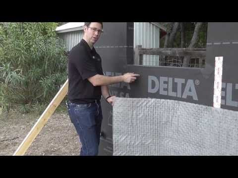 Delta Vent SA & Delta Dry Review & Mockup - This breathable peel & stick membrane serves as a weather & air barrier all in one.