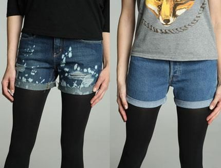 Прикольные джинсовые шорты