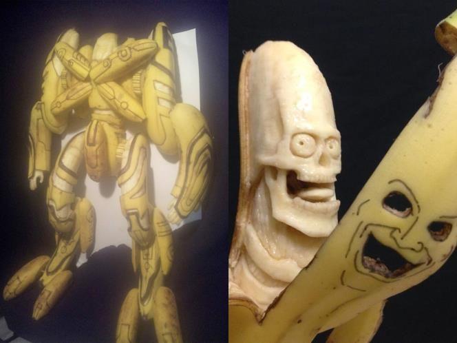 Kunstwerke aus Bananen (© Keisuke Yamada)