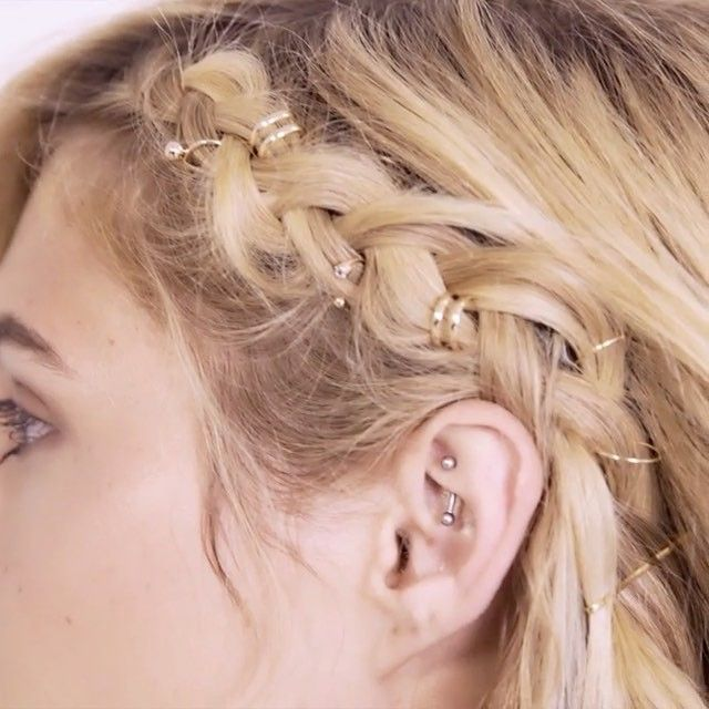 Braid goalsss  Beauty hack- Use earrings and ear cuffs like @thatgirld for summer's coolest hairstyle: the pierced braid!! (Shop link in bio) #f21xbeauty  via FOREVER 21 OFFICIAL INSTAGRAM - Celebrity  Fashion  Haute Couture  Advertising  Culture  Beauty  Editorial Photography  Magazine Covers  Supermodels  Runway Models