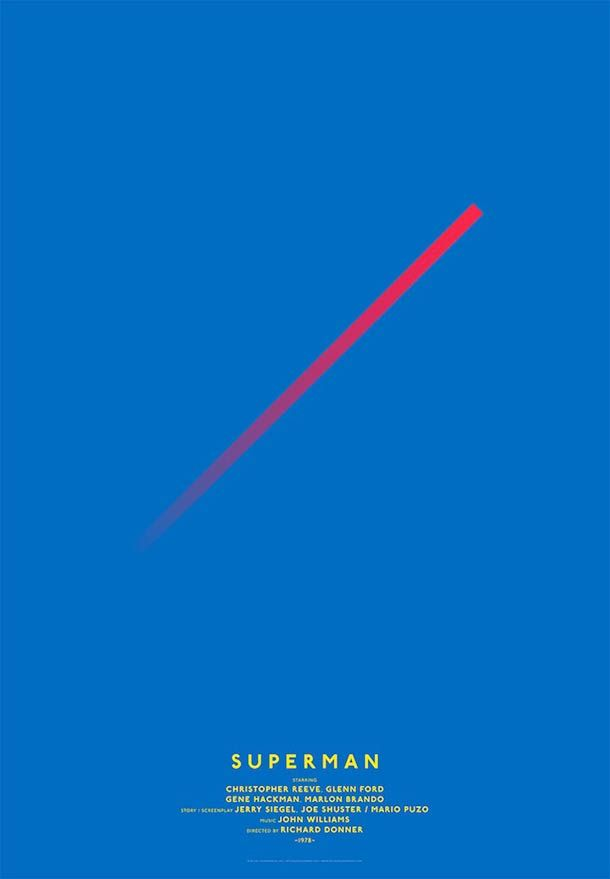Ultra-minimalist movie posters based on simple lines