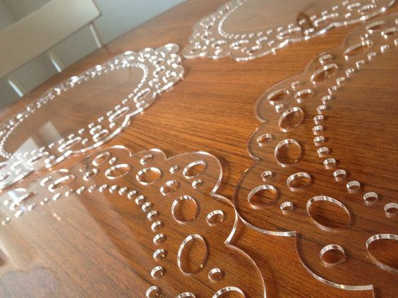 Doily placemats and charger plates: possible use of my ...