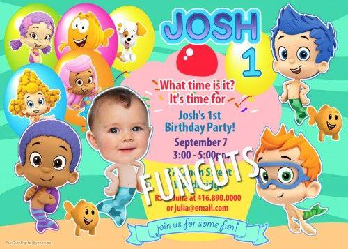 Bubble Guppies Invitation, Printable Birthday Invitation, Kids invite