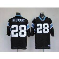 Panthers #28 Jonathan Stewart Black Stitched NFL Jersey