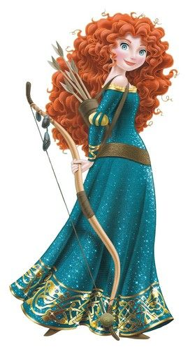 Merida from Brave (2012). Another modern princess who is gifted with an item that could potentially serve as a deadly weapon.