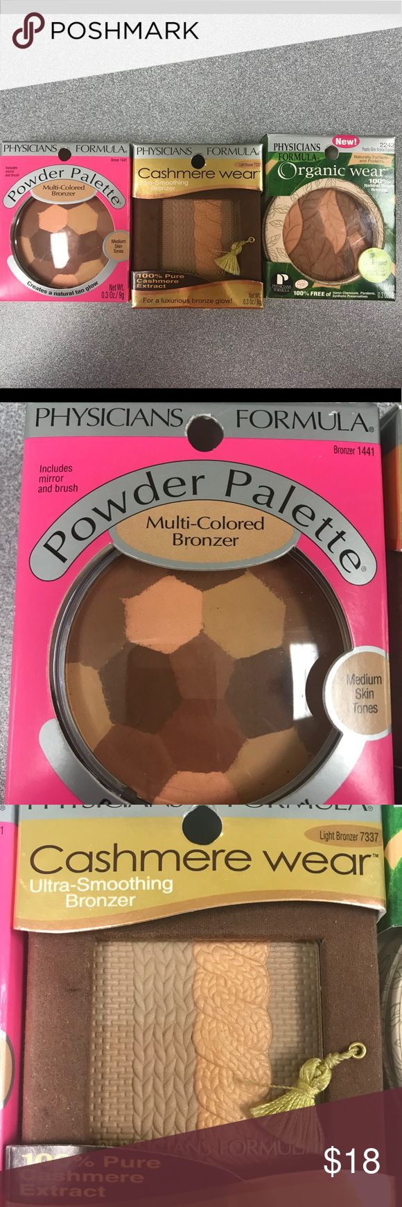 Collection of physicians Formula bronzers Price is for all 3 bronzers. New and never used. Physicians Formula Makeup Bronzer