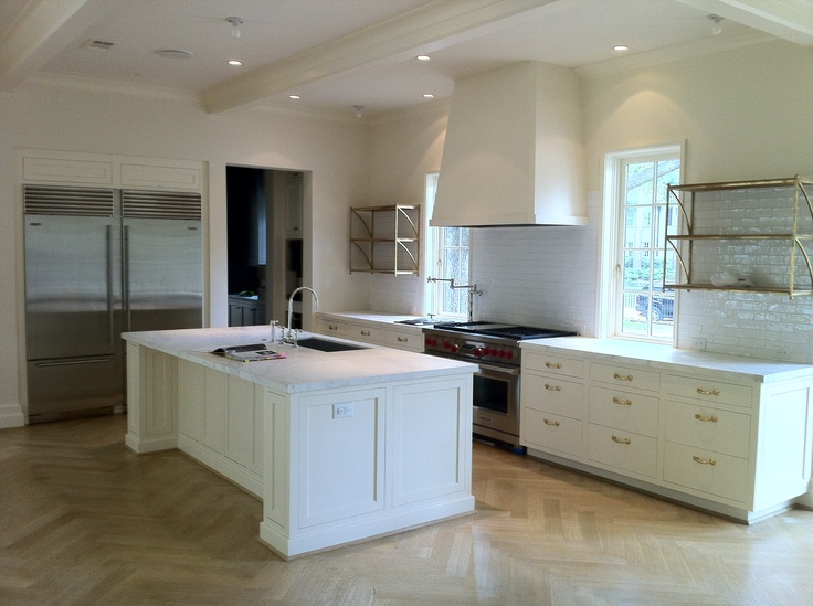 White paint inset shaker doors slab drawers very clean for Kitchen cabinets 999