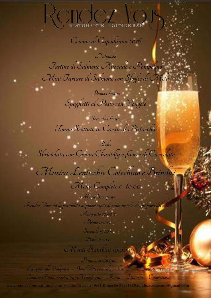 Festeggiate il Capodanno con noi! Musica, portate appetitose e Brindisi apriranno le porte ad un fantastico nuovo anno!
