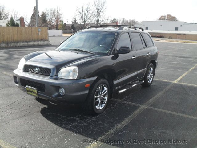 View Photos & Details of a 2003 USED HYUNDAI SANTA FE 4dr GLS 4WD Automatic 2.7L V6 located in Tulsa, OK at Best Choice Motors | $6,995 | Black Obsidian