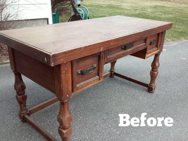 Hometalk   Upcycled Old Desk