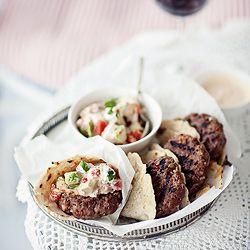 Mexican burgers + salsa