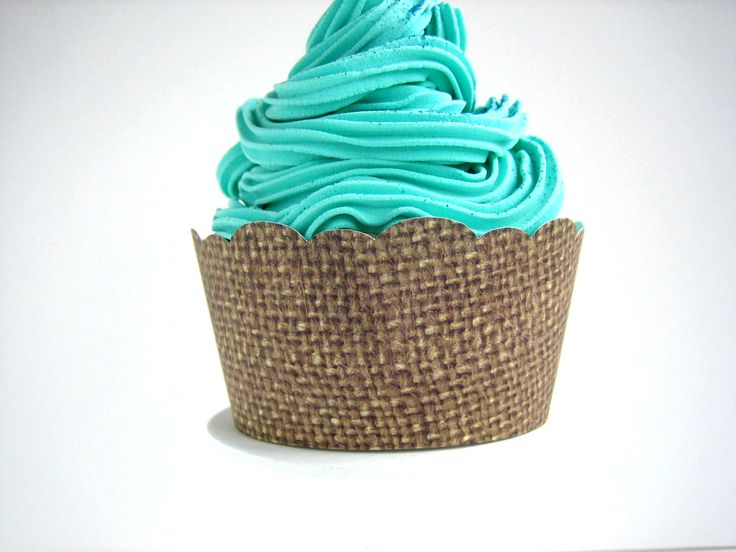 24 Burlap Cupcake Wrappers - Shabby Chic, Rustic, Fall, Autumn, Vintage, Birthday, Outdoor Wedding, Barn Wedding, Baby Shower, Bridal Shower. $8.00, via Etsy.