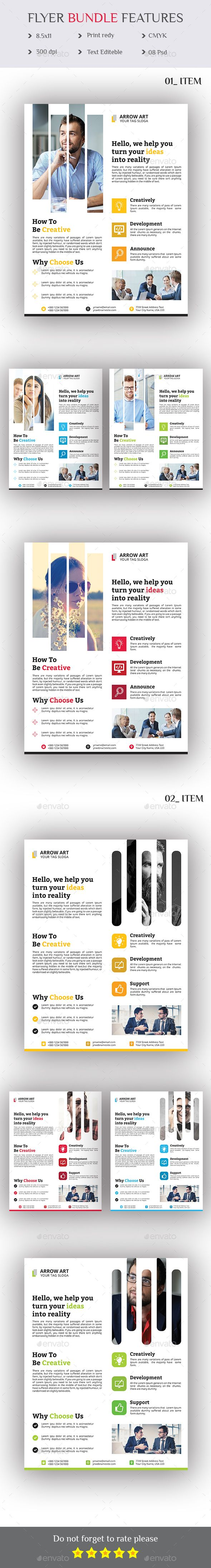 Flyer Bundle 2 in 1 - Template PSD                                                                                                                                                                                 More