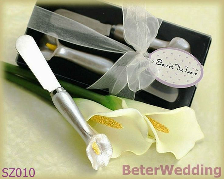 """""""Spread the Love"""" Pearl Callalily Spreader Set in Gift Box SZ010 Shanghai Beter Gifts@http://shop72795737.taobao.com"""