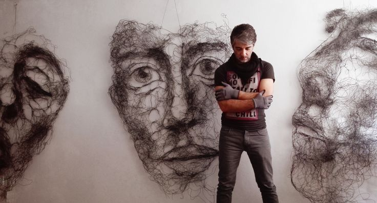 Wire Sculptures by Tasos Konstantinopoulos