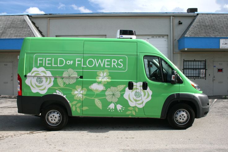 Field of Flowers Ram Promaster Vehicle Wrap For Their South Florida Locations. Print and Installation by Car Wrap Solutions.  http://CarWrapSolutions.com/Dodge-Promaster-Van-Vinyl-Vehicle-Wraps-Graphics-Lettering.html