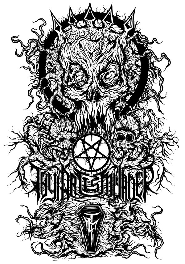 "brutalgeneration: "" finished. TAIM (available for print A1 59x84cm) request for a band logo? message me """