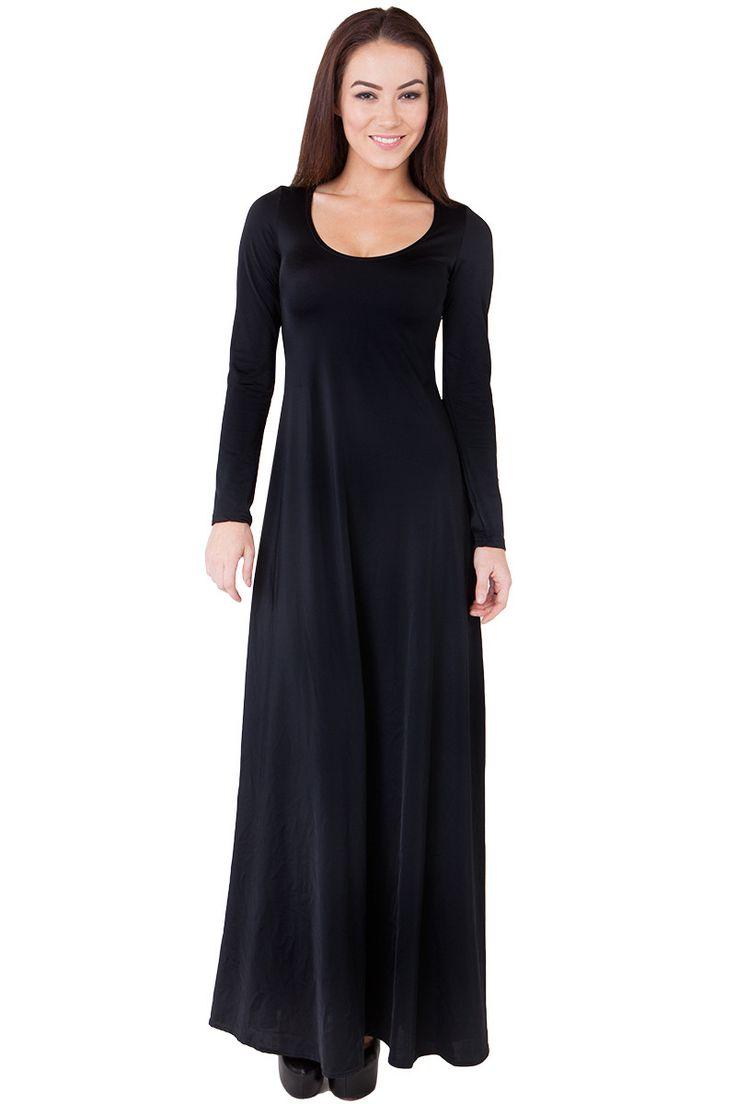 Matte Black Maxi Dress - $120.00 AUD