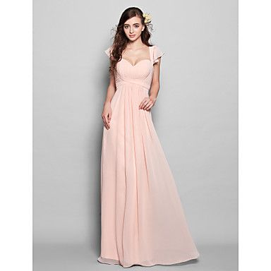 Bridesmaid Dress Floor-length Chiffon Sheath/Column Sweetheart Dress - EUR € 79.99