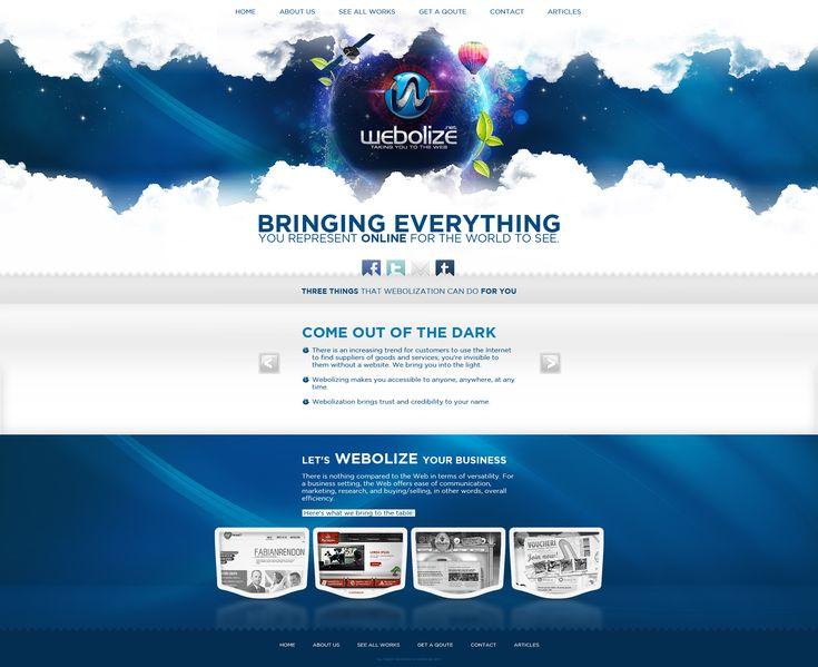 Web Design: Webolize by VictoryDesign.deviantart.com