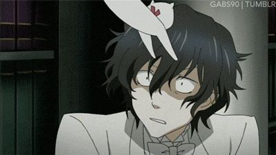 lol Gilbert! He's still the little scaredy cat he always was..... although I guess he doesn't like cats so I probably shouldn't use that phrase ^_^ - Pandora Hearts