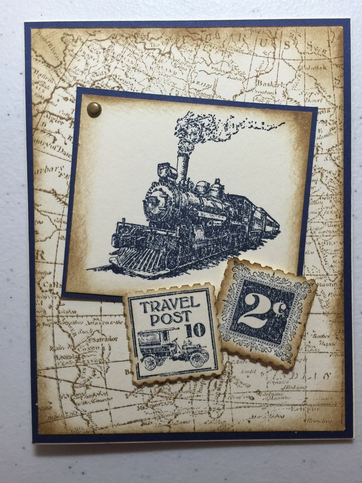 Traveler Postage Due and World Map Stamps