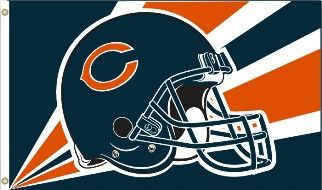 Show everyone that you are a die-hard Chicago Bears fan by hanging up this 3-foot x 5-foot NFL flag. This high quality Bears flag is constructed of sturdy 150 denier polyester and measures 3Ft x 5Ft i