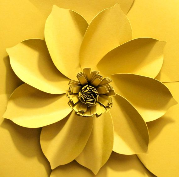 Giant Paper Flower Paper Flower Backdrop Wedding by APaperEvent