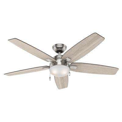 LED Indoor Brushed Nickel Ceiling Fan With Light · Nickel Gebürstet  DeckenventilatorDeckenventilatoren Mit BeleuchtungVentilator ...