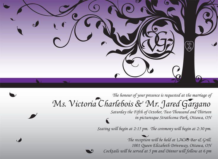Wedding Stationary – Design / Illustration / Layout – for Victoria Charlebois and Jared Gargano.