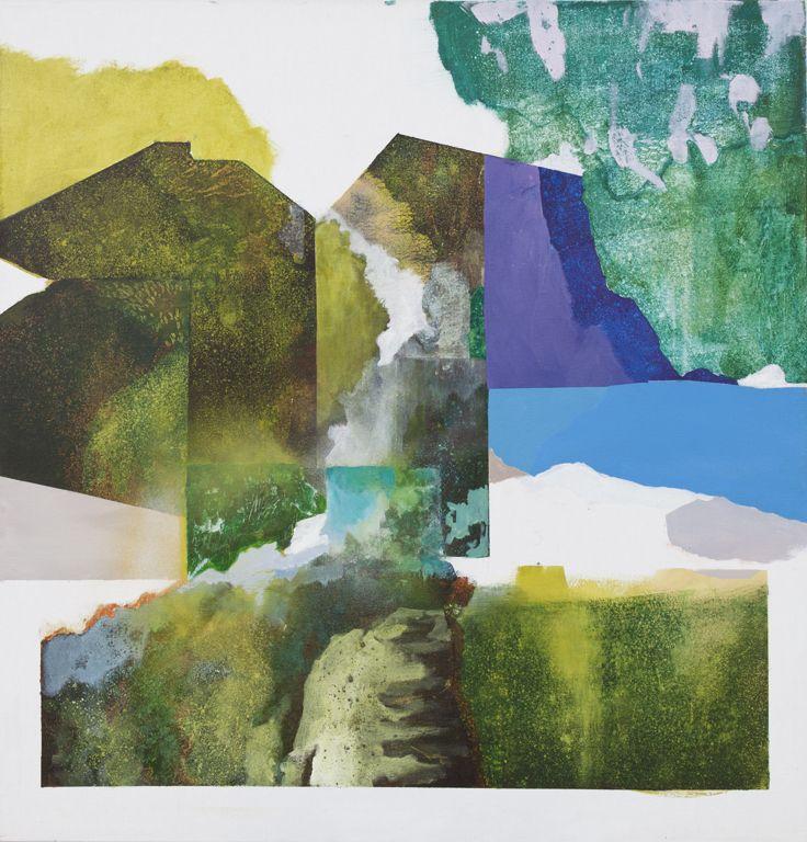 Mari Jäälinoja, Landscape Survey; map no1, 2016, acrylic on canvas, 100x96cm
