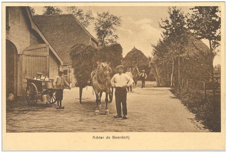 18207 Het vervoeren van stro met paard en kar en de melk... | Zoek resultaat | Fotohistorisch