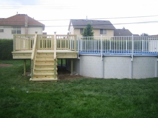 Above ground pools decks  