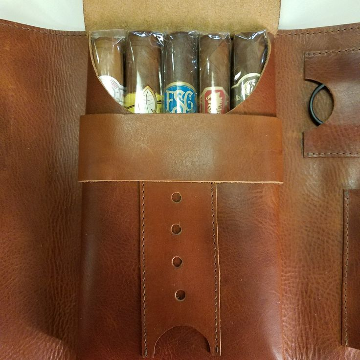New item over here! Do you have a cigar smoker in your life? These beautiful oil tan cigar travel cases are a must, you have everything you need at your fingertips in one clever roll.