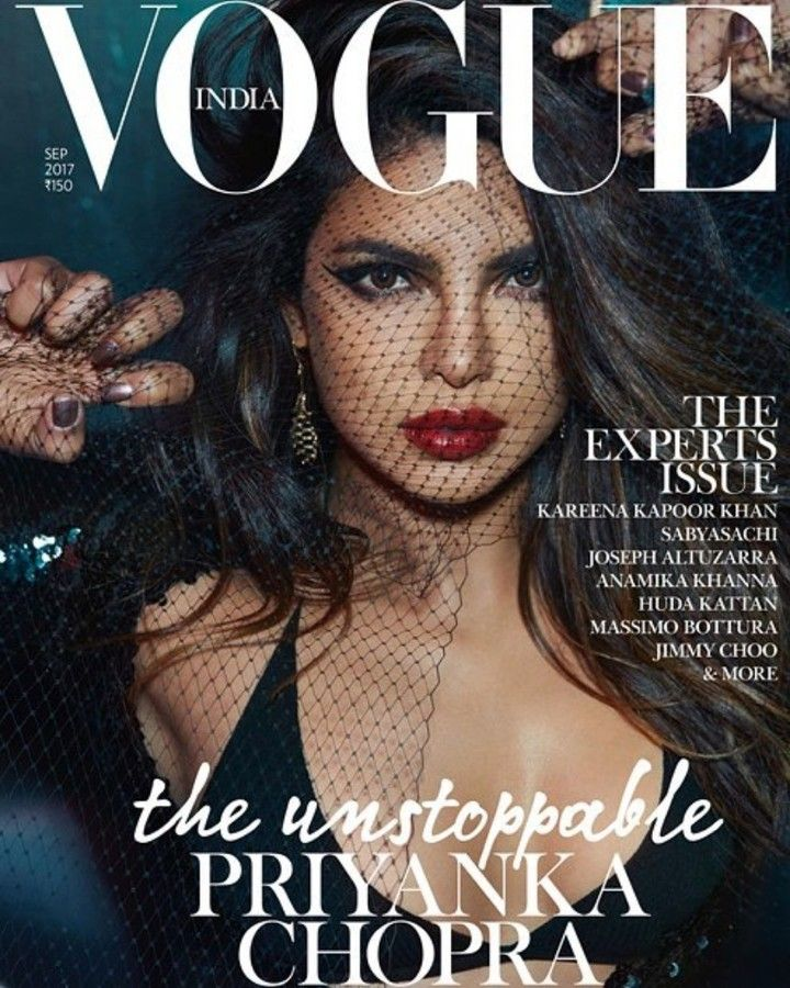 #PriyankaChopra | The Cover says it all! The Gorgeous @PriyankaChopra on the September 2017 Issue @VogueIndia. .  Styled By - @AnaitaShroffAdajania Photographed By - @Anlestudio Make-up - @ralphsiciliano (Ralph Siciliano/The Wall Group ) Hair - @petergrayhair (Peter Gray using LOreal Professionnel) Manicure - @nailsbymei (Nails by Mei) Location Courtesy: Hotel Chantelle .  #Priyanka #bolly #bollywood #bollywoodactor #bollywoodactress #bollywoodstyle #bollywoodfashion #bollywoodmovie…
