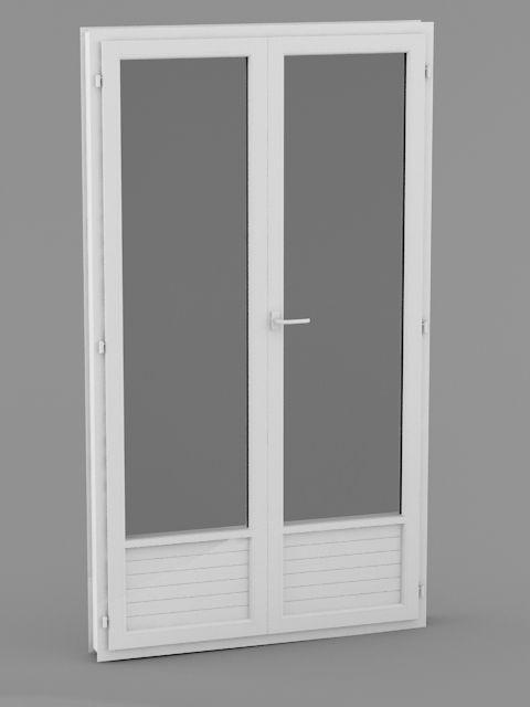 Porte-Fenêtre pvc 2 vantaux dormant de 60 mm