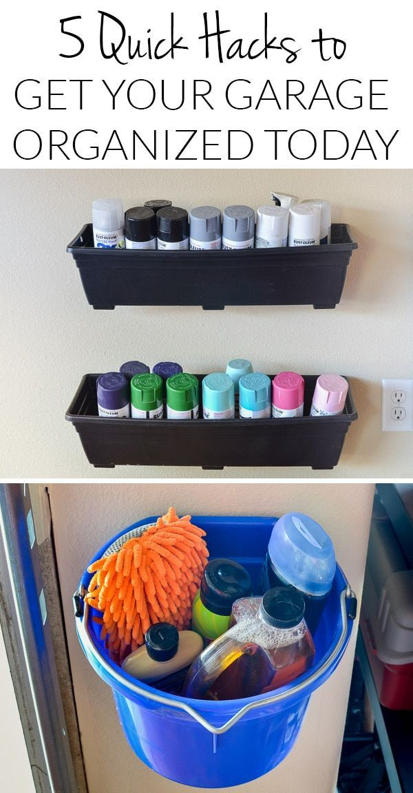 Garage Storage & Garage Organization Hacks Anyone Can Pull Off in 5 Minutes Or Less!