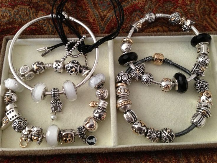 black and white pandora bracelet - Pandora Bracelet Design Ideas