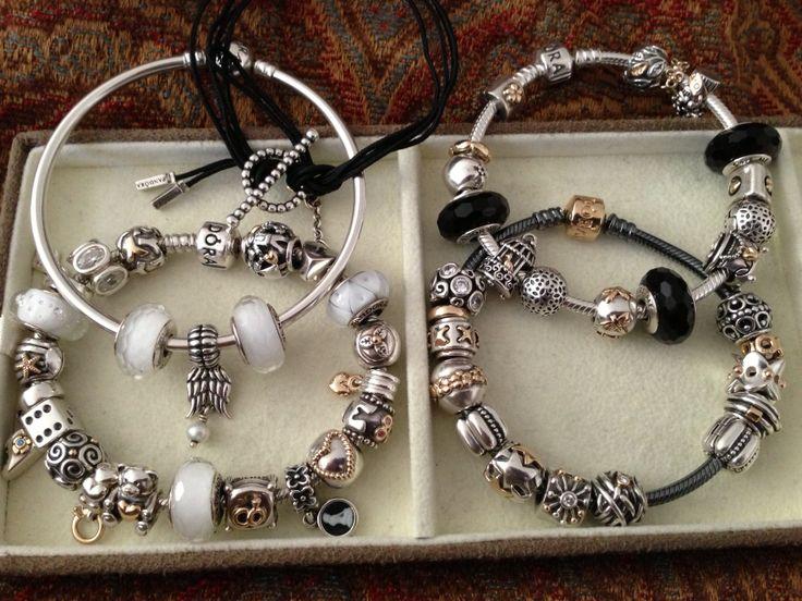 black and white pandora bracelet - Pandora Bracelet Design Ideas