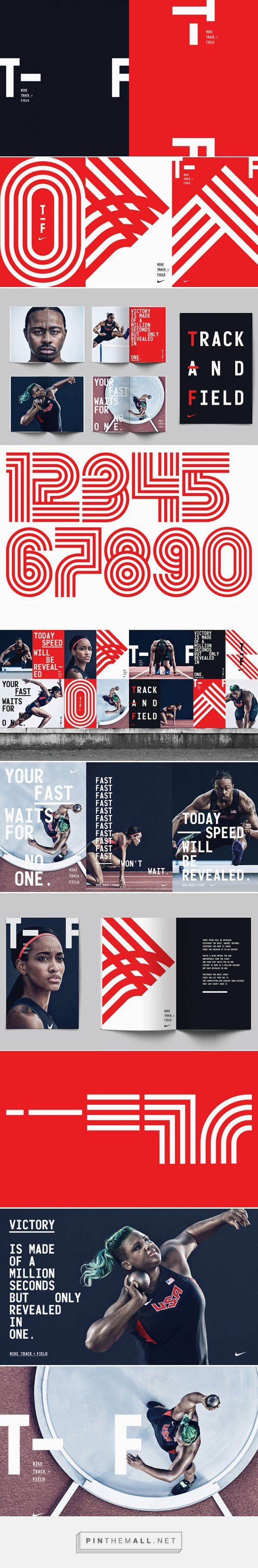 It's Nice That | Build and the Nike brand team creates bold branding for Nike's Track and Field line... - a grouped images picture - Pin Them All