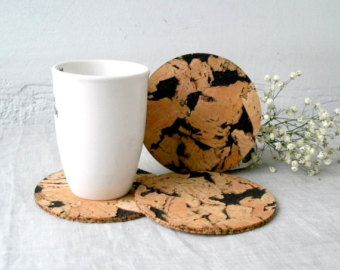Wooden Coasters Rustic Wooden Coaster by CuriousCandlesShop