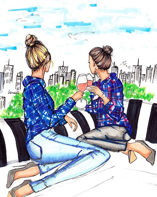 Rooftops and Rosé ~ Melsys on Etsy ✿⊱╮