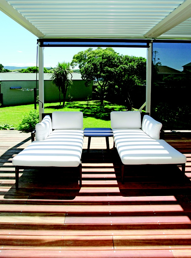 These luxurious cushioned sun loungers are perfect for relaxing on a summer's afternoon.